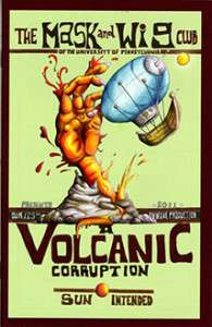 2011 A Volcanic Corruption Poster