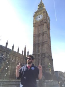 Tim standing in front of Big Ben